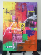 tableau abstrait toile peinture abstrait abstraite peinture acrylique tableau original : Lorem ipsum