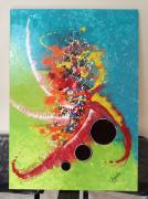 tableau abstrait corona toile tableau peinture acrylique abstrait abstraite : CORONA VERSUS