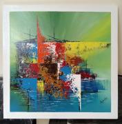 tableau abstrait toile peinture abstrait abstraite peinture acrylique tableau original : Sailing colors