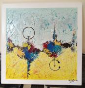tableau abstrait toile peinture abstrait abstraite peinture acrylique tableau original : African art