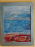 painting paysages camargue ciel sel infini : Camargue