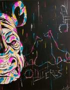 tableau animaux rhinoceros pop art abstrait : Diceros