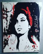 tableau personnages amy winehouse pop art trashpolka : Amy