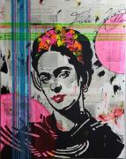 tableau personnages frida kahlo popart : Frida