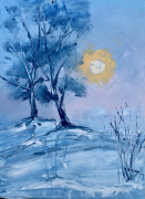 tableau paysages tot matin froid : early frimas