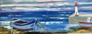tableau marine port bretagne bateaux : Port Breton