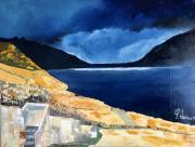 tableau paysages leman lavaux lac vignobles : Paysage du Lavaux