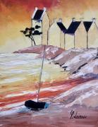 tableau marine bretagne plage soiree : Traezh Ker Noz