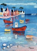 tableau marine bretagne port bateaux : Porzh Bag