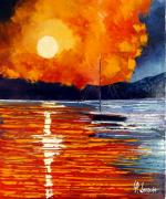 tableau marine ete coucher soleil : Rêve d'une nuit d'été