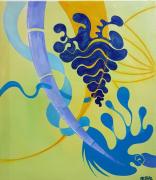 tableau abstrait couleurs mouvements joie abstrait : SYMBOLIQUE
