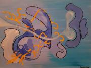 tableau abstrait bleu mouvements eclats abstrait : Contexte
