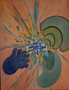 tableau abstrait couleurs mouvements perspectives abstrait : ENFIN