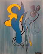 tableau abstrait couleurs lmouvements imaginaire abstrait : Campus