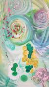 tableau abstrait couleurs mouvements joie abstrait : UNION