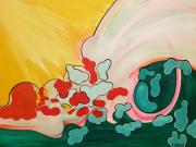 tableau paysages abstrait couleurs terre lave : HAROUN