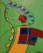 tableau abstrait couleurs joie mouvements abstrait : Fête foraine