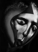 mixte personnages portrait femme art numerique art deco : Tristesse