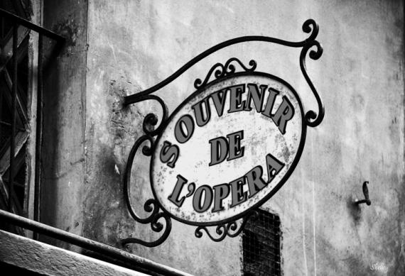 PHOTO panneau façade Façade noir-blanc  - Souvenir...