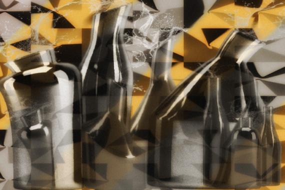 ART NUMéRIQUE art numérique art déco digital art peinture numérique Abstrait  - Laboratoire