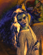 art numerique personnages art numerique femme peinture numerique art deco : Lady Sonia 1