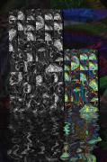 art numerique abstrait art numerique art deco digital art mix media : Flottement