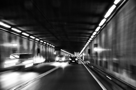 PHOTO voiture autoroute vitesse route  - Speed