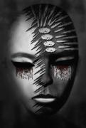 mixte personnages art numerique portrait femme tristesse art deco : Vers la fin