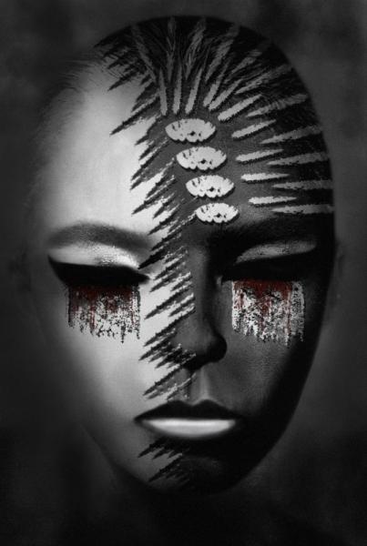 MIXTE art numérique portrait femme tristesse art déco Personnages  - Vers la fin