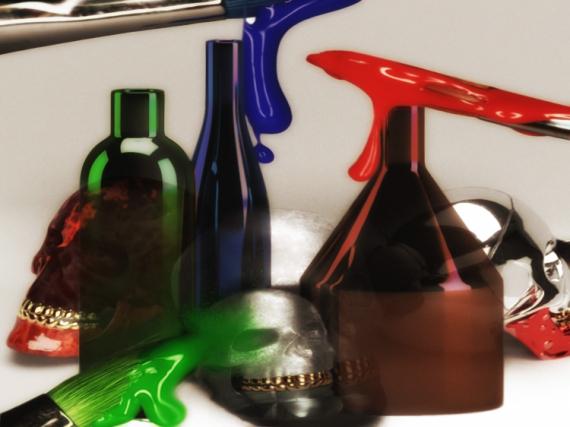 ART NUMéRIQUE art numérique digital art peinture numérique mix media Abstrait  - Bricolage