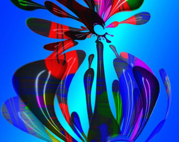 ART NUMéRIQUE art numérique art déco digital art mix media Abstrait  - Graphic Babel tower