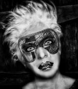 art numerique personnages art numerique art deco digital art mix media : Mascarade
