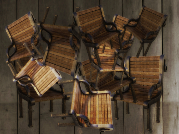 ART NUMéRIQUE art numérique art déco chaises peinture numérique  - Chaises en folie