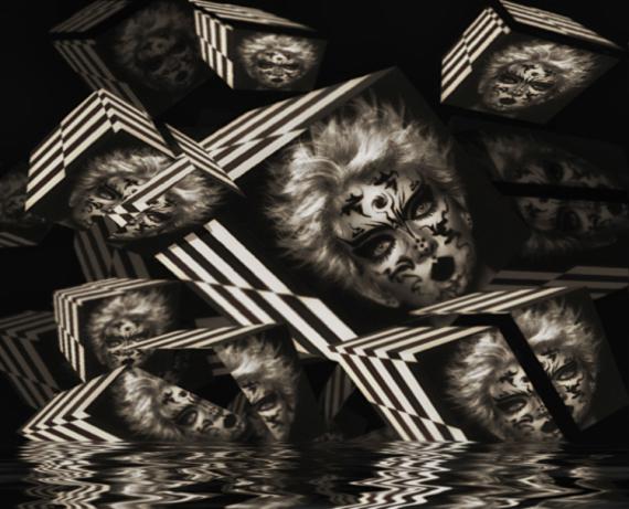 MIXTE art numérique art déco digital art mixte media  - Cubes