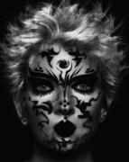 art numerique personnages art numerique art deco digital art mixte media : Tatoo face
