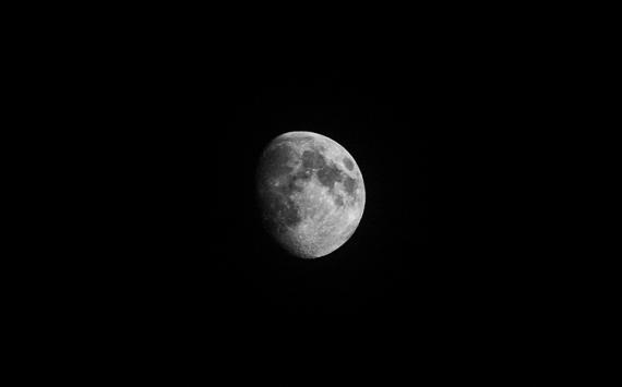 PHOTO lune lune noir-blanc lunaire  - Lunaire