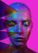 art numerique personnages art numerique art deco visage femme digital art : Grafic girl