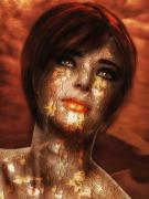 art numerique personnages art numerique art deco portrait digital art : double skin