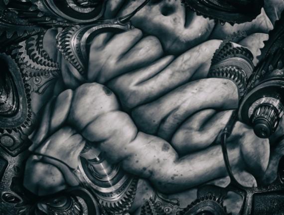 ART NUMéRIQUE art numérique science fiction dark art artwork Abstrait  - Mechanic Brain