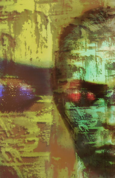 MIXTE art numérique art déco digital art mix media Personnages  - Lost