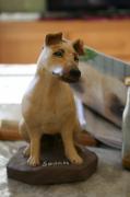 sculpture animaux argile terre cuite sculpture chien : SWANN