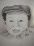 dessin personnages bebe portrait crayon casquette : BEBE