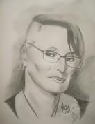 dessin personnages femme lunettes cheveux courts : Femme