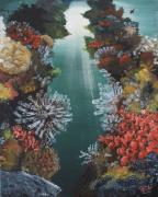tableau autres acrylique toile mer eau : Profondeurs