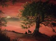 tableau autres acrylique toile peinture rouge : ISOLEMENT