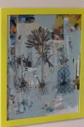 tableau fleurs fleur hellebore dessin techniques mixtes : Helleborus Purpurascens