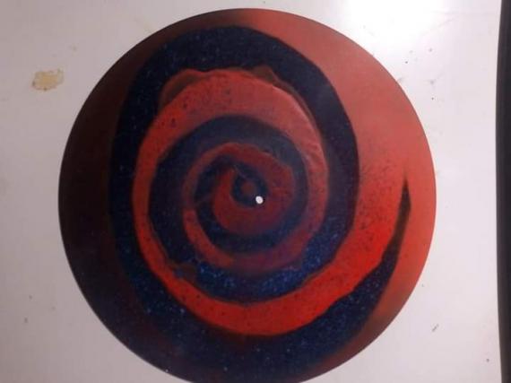 TABLEAU PEINTURE Abstrait Acrylique  - Tourbillons