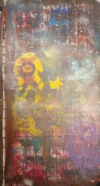TABLEAU PEINTURE Espace Abstrait Acrylique  - Space