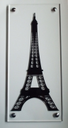 tableau architecture tour eiffel adhesif vinyle plexiglass : Tour Eiffel