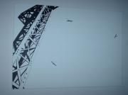 tableau paysages aerien construction epure perspective : planeurs